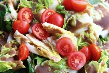 salat mit dressing I