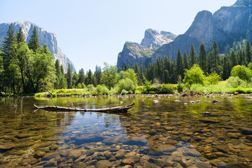Yosemite National Park, small lake view. California, USA