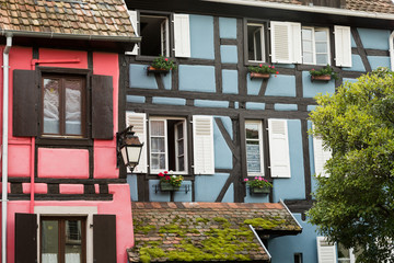 Maisons alsaciennes colorées