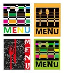 quattro menù per ristorante