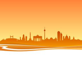 Skyline Berlin Sonnenuntergang