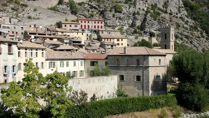 The medieval city of Entrevaux, France