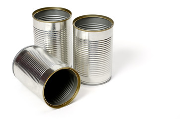 Blank metal can isolated