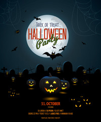 Halloween night poster template