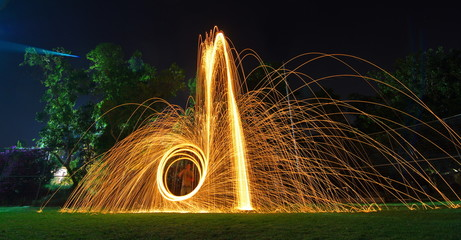Steel wool light painting
