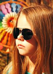 Girl in sunglasses.