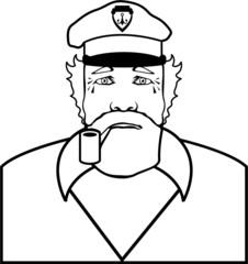 Captain outline vector