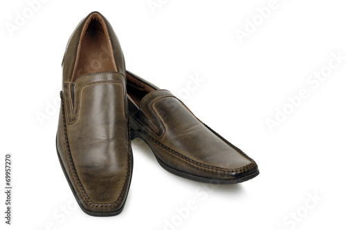 canvas print picture brown shoes