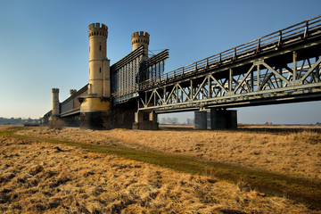 Drogowy zabytkowy most kratowy, Tczew, Polska