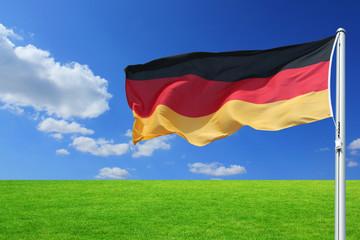deutschlandflagge mit hintergrund