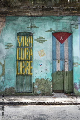 Deurstickers Caraïben Viva Cuba Libre