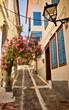 Obrazy na płótnie, fototapety, zdjęcia, fotoobrazy drukowane : Lovely Greek street, Vathi, Samos