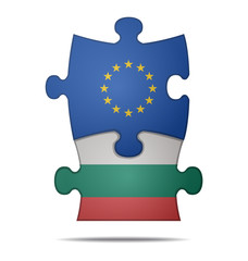puzzle pieces europe and bulgaria