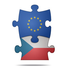 puzzle pieces europe and czech