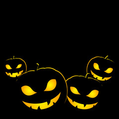 Halloween Scary Pumpkin Lantern Simple Background