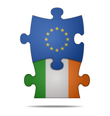 puzzle pieces europe and ireland