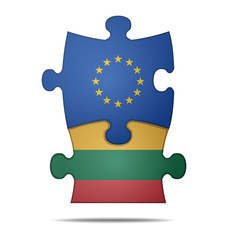 puzzle pieces europe and lithuania