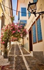 Lovely Greek street, Vathi, Samos