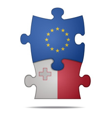 puzzle pieces europe and malta