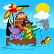 animals pirates - vector illustration, eps