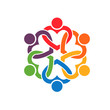 Group of people Interlaced hearts 6 logo - 69958691