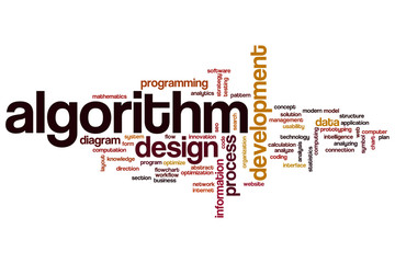 Algorithm word cloud
