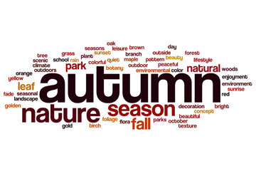 Autumn word cloud