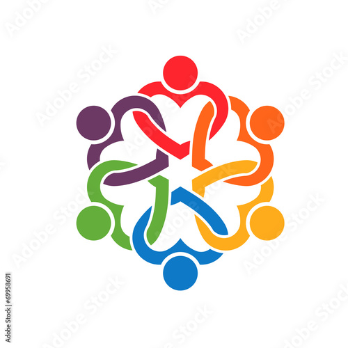 Group of people Interlaced hearts 6 logo
