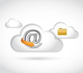 internet cloud computing folder illustration