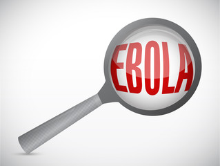 ebola magnify research illustration design
