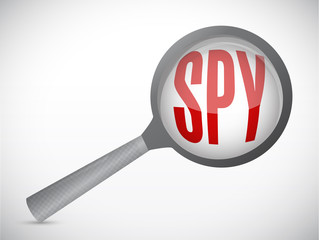 spy magnify illustration design
