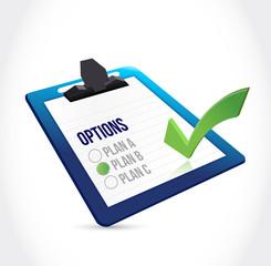 clipboard plan check mark illustration design