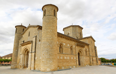 Beautiful Romanesque church in Fromista, Spain