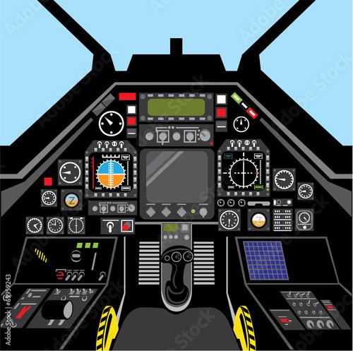 Airplane Cockpit - 69959243