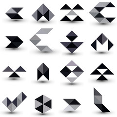 Abstract design elements set