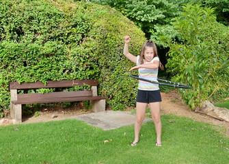 Girl with a Hula Hoop