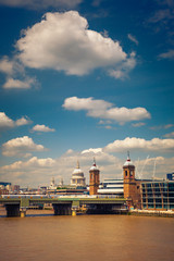 Clouds over Thames, London