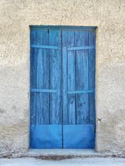 Old blue door in Greece