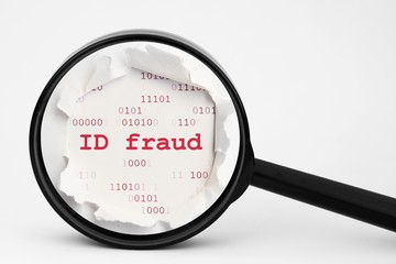 ID fraud search concept