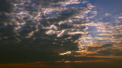 Clouds On Sunset Sky time-lapse - FullHD