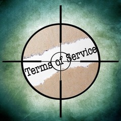 Terms of service target concept