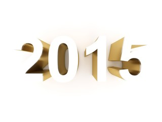 2015 happy new year - white background calendar