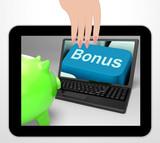 Bonus Key Displays Incentives And Extras On Web poster