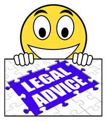 Legal Advice Sign Shows Expert Or Lawyer Assistance Online
