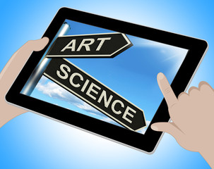 Art Science Tablet Means Creative Or Scientific