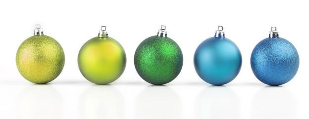 christmas balls with vivid colors