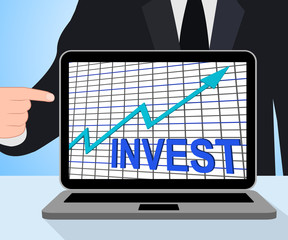 Invest Chart Graph Displays Increase Investment
