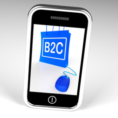 B2C Bag Displays Business to Customer Online Buying