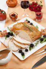 Roasted Turkey Breast - Rosemary-Basil Rub