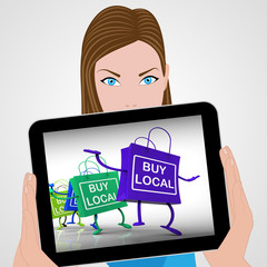 Buy Local Bags Displays Neighborhood Market and Business